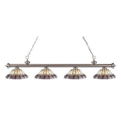 Billington 4-Light Billiard Light Finish: Brushed Nickel