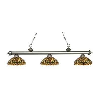 Riviera 3-Light Billiard Light Finish: Antique Silver