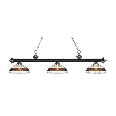 Billington 3-Light Billiard Light Finish: Matte Black / Brushed Nickel