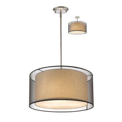Fleckenstein 3-Light Drum Pendant Shade Color: Black