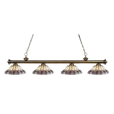 Billington 4-Light Billiard Light Color: Antique Brass