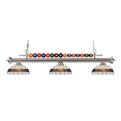 Chapa 3-Light Billiard Light Finish: Brushed Nickel