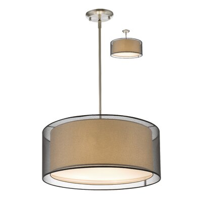 Sedona 3-Light Drum Pendant Shade Color: Black