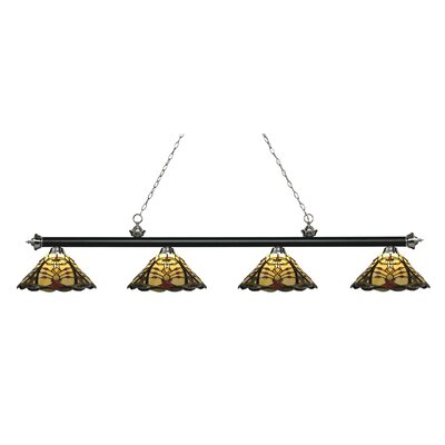 Billington 4-Light Billiard Light Finish: Matte Black / Brushed Nickel