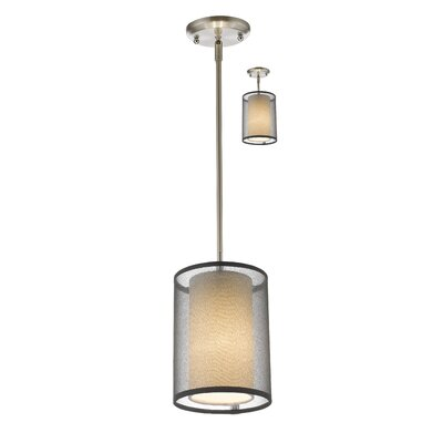 Fleckenstein 1-Light Drum Pendant Shade Color: Black