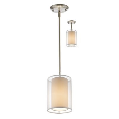 Fleckenstein 1-Light Drum Pendant Shade Color: White