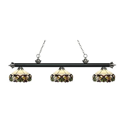 Billington 3-Light Billiard Light Color: Matte Black / Brushed Nickel