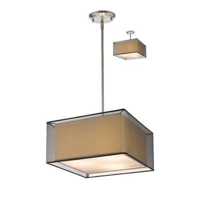 Sedona 3-Light Kitchen Island Pendant Shade Color: Black, Size: 56.48 H x 15 W