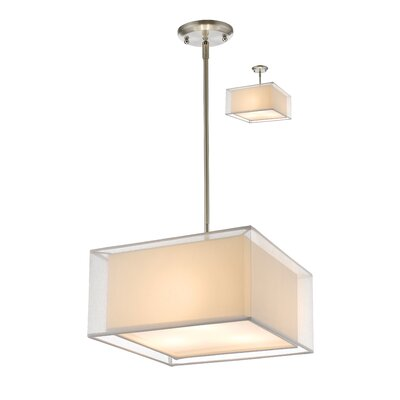 Sedona 3-Light Kitchen Island Pendant Size: 56.48 H x 15 W, Shade Color: White