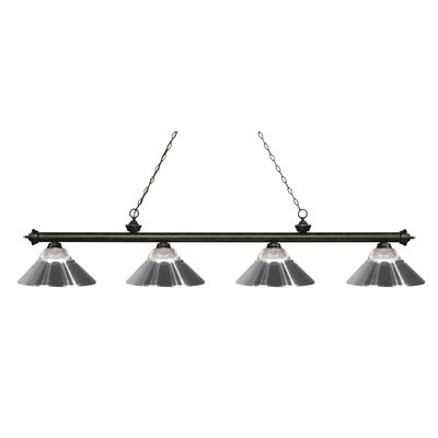 Riviera 4-Light Billiard Light Shade Color: Chrome, Finish: Golden Bronze