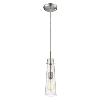 Monte 1-Light Mini Pendant Finish: Brushed Nickel
