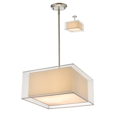 Fleckenstein 3-Light Kitchen Island Pendant Shade Color: White, Size: 57.48 H x 18 W