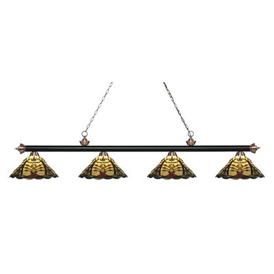 Billington 4-Light Billiard Light Color: Matte Black / Antique Copper