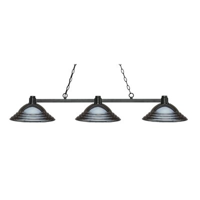 Park 3-Light Kitchen Island Pendant Finish: Bronze, Shade Color: Stepped Gun