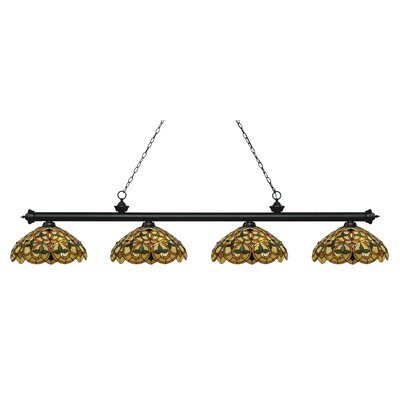 Billington 4-Light Billiard Light Color: Matte Black