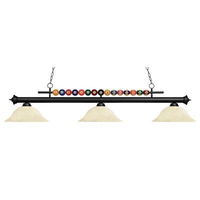 Shark 3-Light Billiard Light Finish: Matte Black