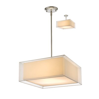 Fleckenstein 3-Light Kitchen Island Pendant Shade Color: White, Size: 58.48 H x 24 W