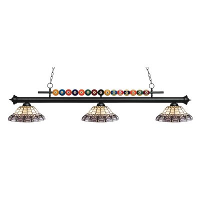 Chapa 3-Light Billiard Light Finish: Matte Black