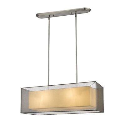 Fleckenstein 4-Light Kitchen Island Pendant Shade Color: Black, Size: 58.48 H x 36 W x 11 D