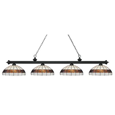 Riviera 4-Light Billiard Light Finish: Matte Black