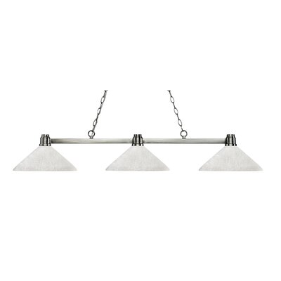 Park 3-Light Kitchen Island Pendant Finish: Brushed Nickel