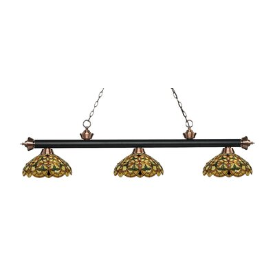 Billington 3-Light Billiard Light Color: Matte Black / Antique Copper
