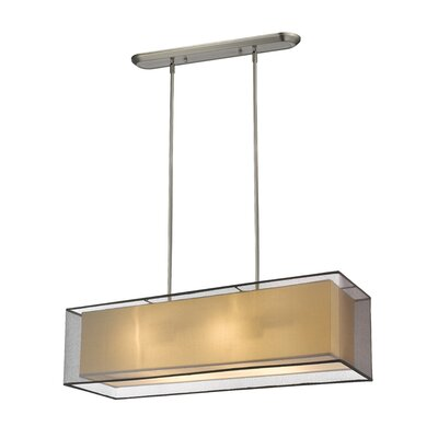 Fleckenstein 4-Light Kitchen Island Pendant Shade Color: Black, Size: 63.48 H x 42 W x 17 D