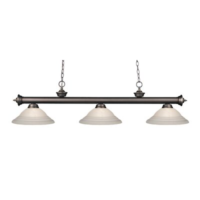 Riviera 3-Light Billiard Light Finish: Olde Bronze