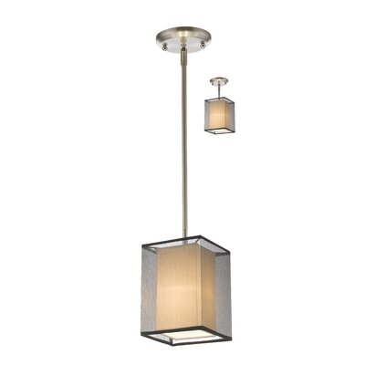 Sedona 1-Light Convertible Mini Pendant Shade Color: Black