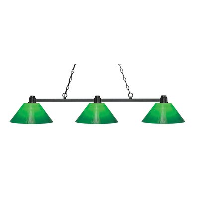 Centeno 3-Light Billiard Light Finish: Bronze