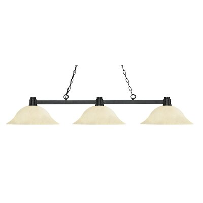 Park 3-Light Kitchen Island Pendant Finish: Bronze