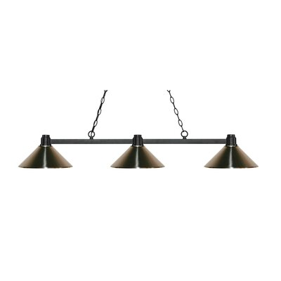 Park 3-Light Billiard Light Shade Color: Brushed Nickel, Finish: Bronze