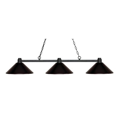Park 3-Light Billiard Light Shade Color: Bronze, Finish: Bronze