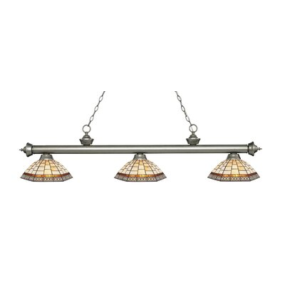 Billington 3-Light Billiard Light Finish: Antique Silver