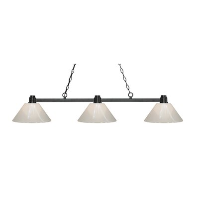 Centeno 3-Light Billiard Light Finish: Bronze, Shade Color: White