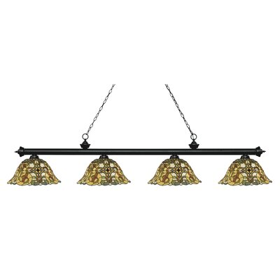 Billington 4-Light Billiard Light Finish: Matte Black