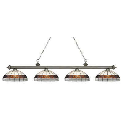 Billington 4-Light Billiard Light Finish: Antique Silver