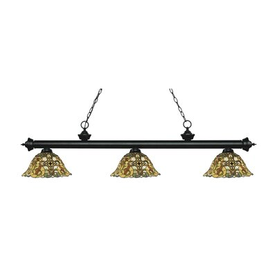 Billington 3-Light Billiard Light Finish: Matte Black