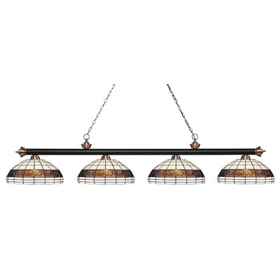 Billington 4-Light Billiard Light Finish: Matte Black / Antique Copper