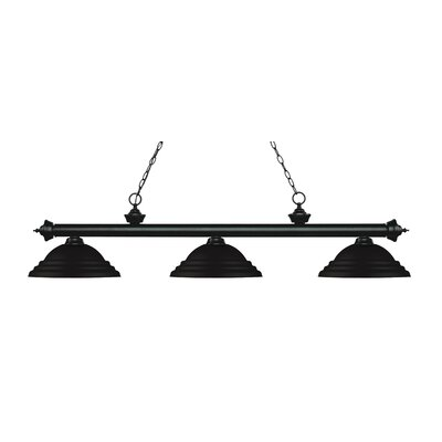 Zephyr 3-Light Cone Shade Billiard Light Finish: Matte Black, Shade Color: Matte Black