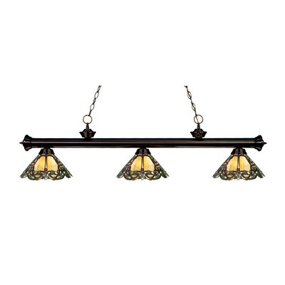 Riviera 3-Light Billiard Light Finish: Bronze