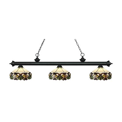 Riviera 3-Light Billiard Light Finish: Matte Black