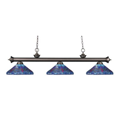 Earleville 3-Light Billiard Light Finish: Olde Bronze