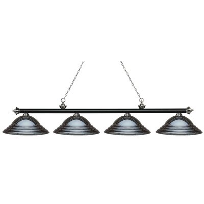 Zephyr 4-Light Metal Shade Billiard Light Shade Color: Gun Metal, Finish: Matte Black / Brushed Nickel