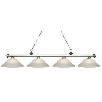 Zephyr 4-Light Steel Billiard Light Finish: Antique Silver