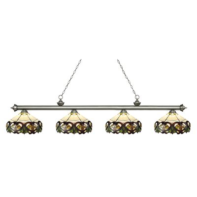 Riviera 4-Light Billiard Light Finish: Antique Silver