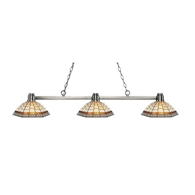 Centeno 3-Light Billard Light Finish: Brushed Nickel