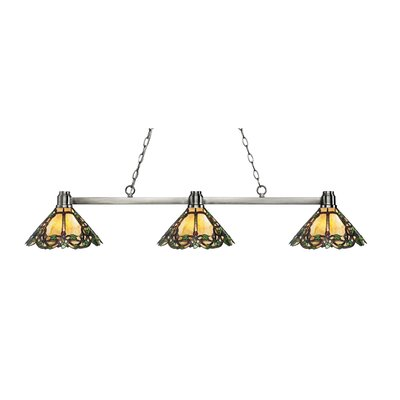 Park 3-Light Billard Light Finish: Brushed Nickel