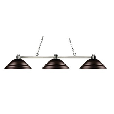 Centeno 3-Light Kitchen Island Pendant Finish: Brushed Nickel, Shade Color: Stepped Bronze