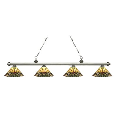 Billington 4-Light Billiard Light Color: Antique Silver